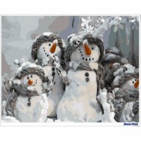 數字油畫 聖誕雪人