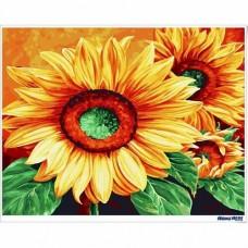 數字油畫 向日葵 光輝燦爛