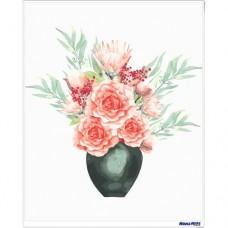數字油畫 小清新 月季花香