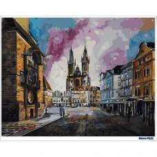 數字油畫 布拉格老城