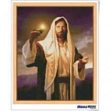 鑽石畫 耶穌掌燈