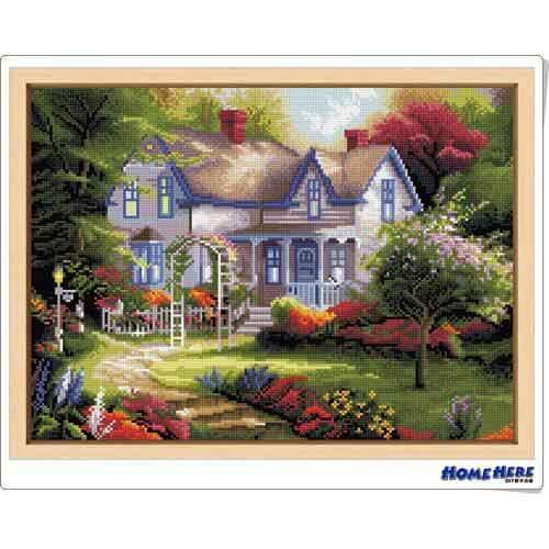 鑽石畫 小屋花園