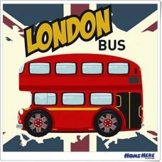 數字油畫 雙層巴士