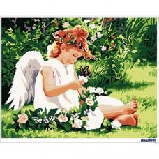 數字油畫 可愛天使