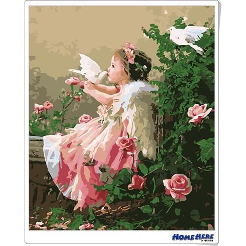 數字油畫 和平天使