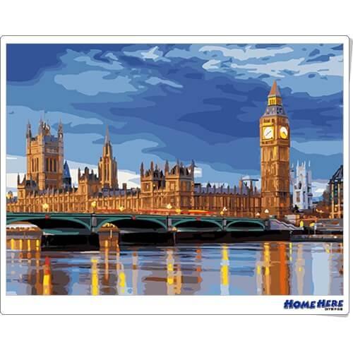 數字油畫 倫敦的早晨
