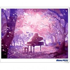 數字油畫 夕夢紫精靈