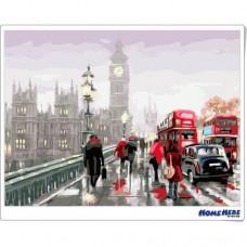 數字油畫 雨後倫敦