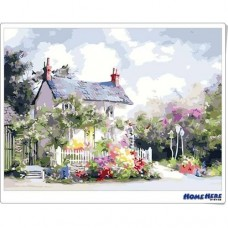 數字油畫 幸福花園