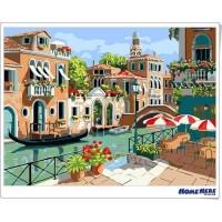 數字油畫 日光威尼斯