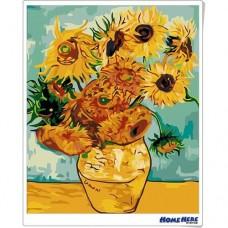 數字油畫 梵谷 向日葵 (金屬色)