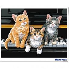 數字油畫 鋼琴小貓