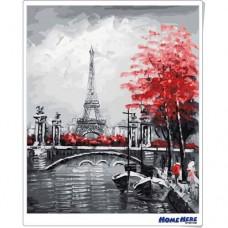 數字油畫 鐵塔 紅色記憶