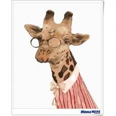 數字油畫 長頸鹿博士