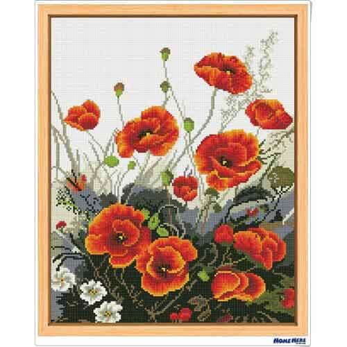 鑽石畫 紅罌粟 (含內外框/環保包裝)