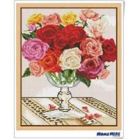 鑽石畫 玫瑰之戀 (含內外框/環保包裝)