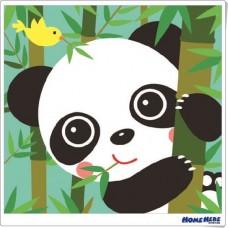 數字油畫 韓國插畫家款 熊貓咪咪
