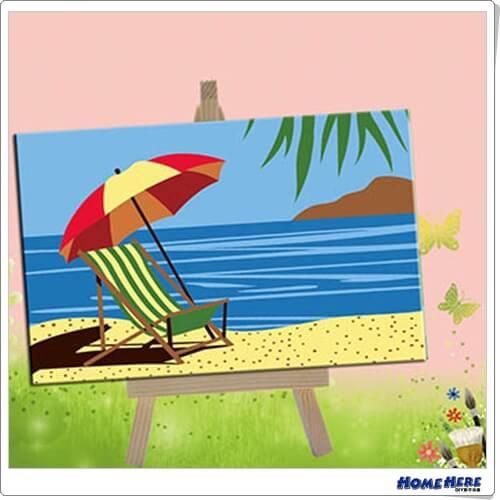 數字油畫 夏日沙灘 (裸裝)