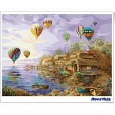 數字油畫 熱氣球之旅