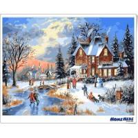 數字油畫 芬蘭聖誕村 預購款 30-45天到貨