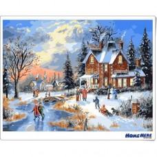 數字油畫 芬蘭聖誕村