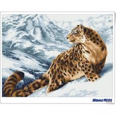 數字油畫 南山雪豹