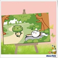 數字油畫 龜兔賽跑 (裸裝)