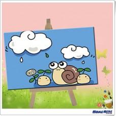 數字油畫 雨天蝸牛 (裸裝)