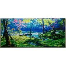 數字油畫 大型畫 春光曲 180x80