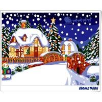 數字油畫 快樂聖誕夜