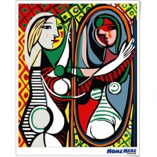 數字油畫 畢卡索 梳妝