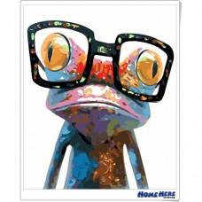 數字油畫 青蛙博士