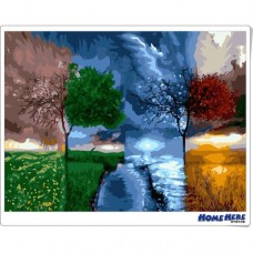 數字油畫  四季樹