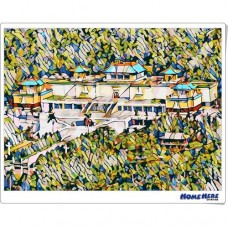 數字油畫 國立故宮博物院院景 抽象