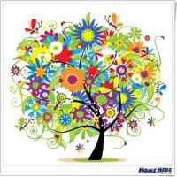 數字油畫 繽紛樹