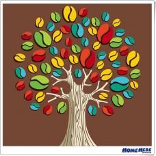 數字油畫 咖啡樹