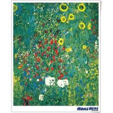 數字油畫 克林姆 向日葵花園