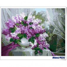數字油畫  薰衣草 紫色嫁衣