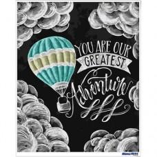 數字油畫 黑板畫 熱氣球冒險家