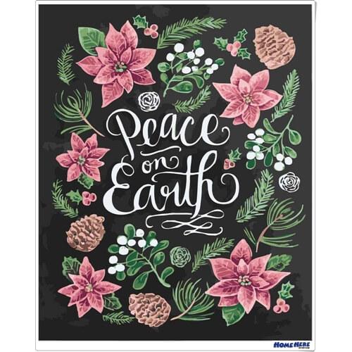 數字油畫 黑板畫 世界和平