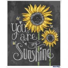 數字油畫 黑板畫 你是陽光