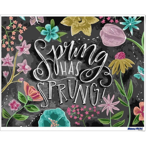 數字油畫 黑板畫 春天來臨