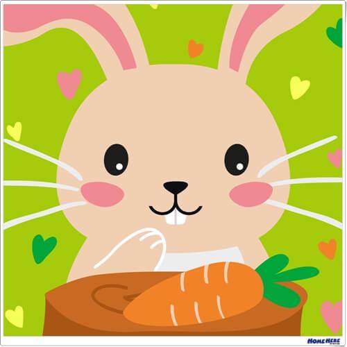 數字油畫 兔子
