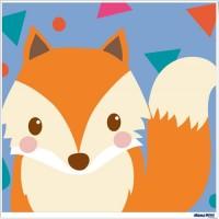 數字油畫 狐狸