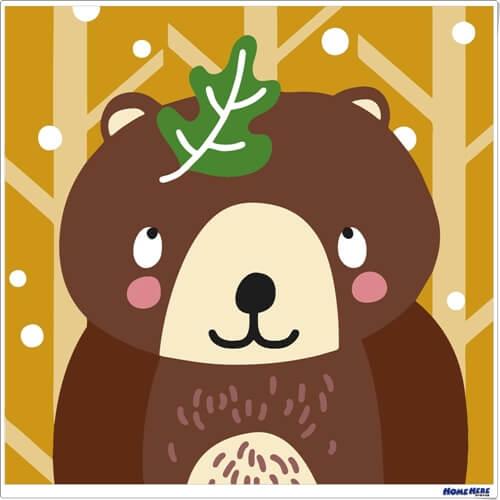 數字油畫 棕熊