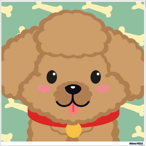 數字油畫 貴賓狗