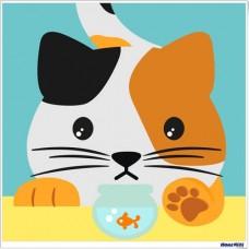 數字油畫 貓咪
