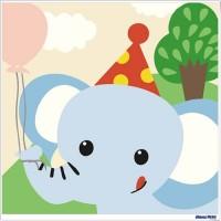 數字油畫 大象