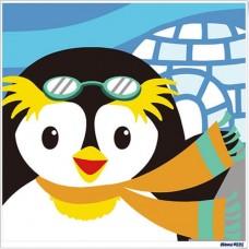 數字油畫 企鵝