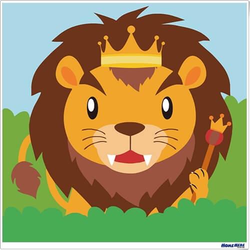 數字油畫 獅子